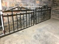 Vintage 1930-1950 wrought iron drive gates - excellent condition