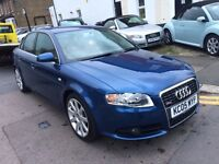 AUDI A4 1.8T S LINE BLUE 2005 FULL HISTORY LEATHERS CAMBELT DONE BY AUDI NEW 3PC CLUTCH KIT NEW MOT