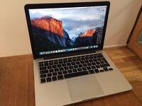 Macbook Pro Retina 13 Inch 256GB with Warrenty and Box