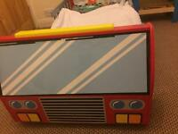 Toddlers sodden fire engine bed