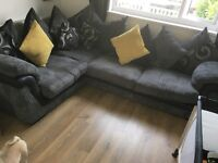 Sofa Set Including corner sofa, 2 person swivel chair and foot stool