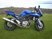 Suzuki SV650s K5, 2005 model, metalic blue, very low mileage, recent service and MOT