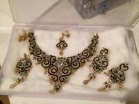 Green Bollywood necklace set