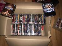 Huge lot of wwe / wwf wrestling dvds rare titles wrestlemania 17