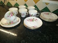 Vintage Duchess Fine Bone China 21 piece tea set
