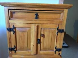 Pair of solid Mexican Pine bedside cabinets