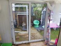 Patio doors tilt and slide FAULTY MECHANISM FREE collect only