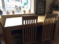 Beautiful wooden oak table