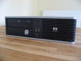 HP Desktop PC. Windows 10, Dual Core, 4GB RAM, 160GB HDD, Quick & Reliable.