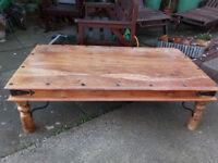 Large Exotic Hardwood Coffee Table