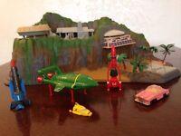 Original Tracy island with Thunderbird cast models