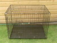 DOG CAGE LARGE WITH TRAY £25