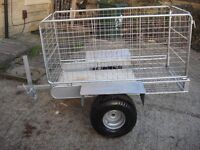 trailer full galvanized good condition ready to use on farms garden or etc