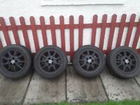 """VW golf gti 15"""" alloy wheels 5x100 with good tyres"""