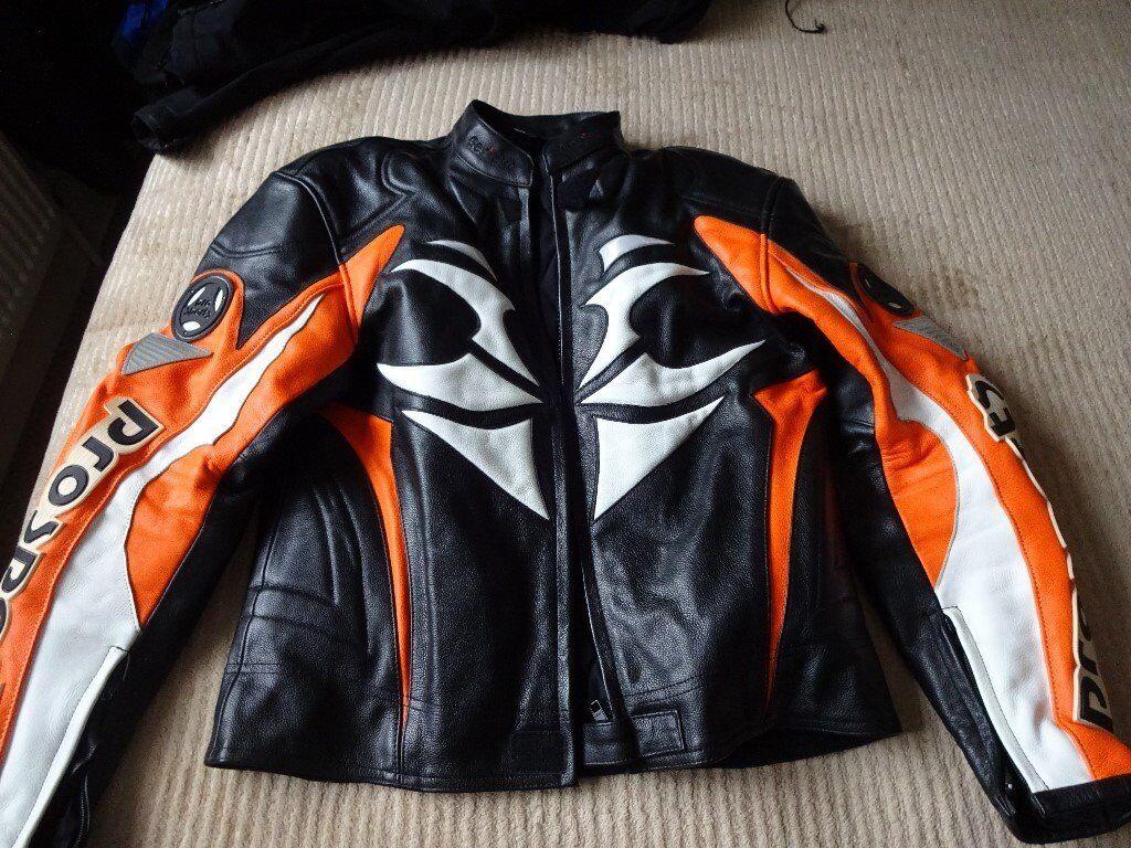 Hein Gericke leather bike jacket uk 38 eu 48