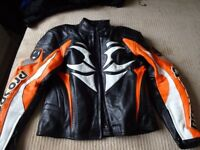 Hein Gericke leather bike jacket uk 38 eu 48