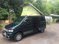 Ford Freda camper van with Fiamma awning and bike rack and full kitchen Mazda bongo