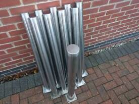Stainless Steel Posts - 100 cm high x 8 cm diameter