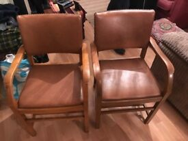 Chairs. Real leather. Perfect for revamp