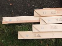 A Selection of Different length Stretchers for Canvas Paintings