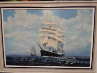 Large Original Oil Painting of Famous Sailing Ship the 'PAMIR'