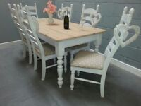 Top quality refurbished 6ft Shabby Chic table set