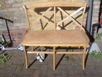 Lovely rustic sonoma crossback bench