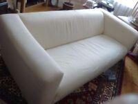 Comfy cream sofa