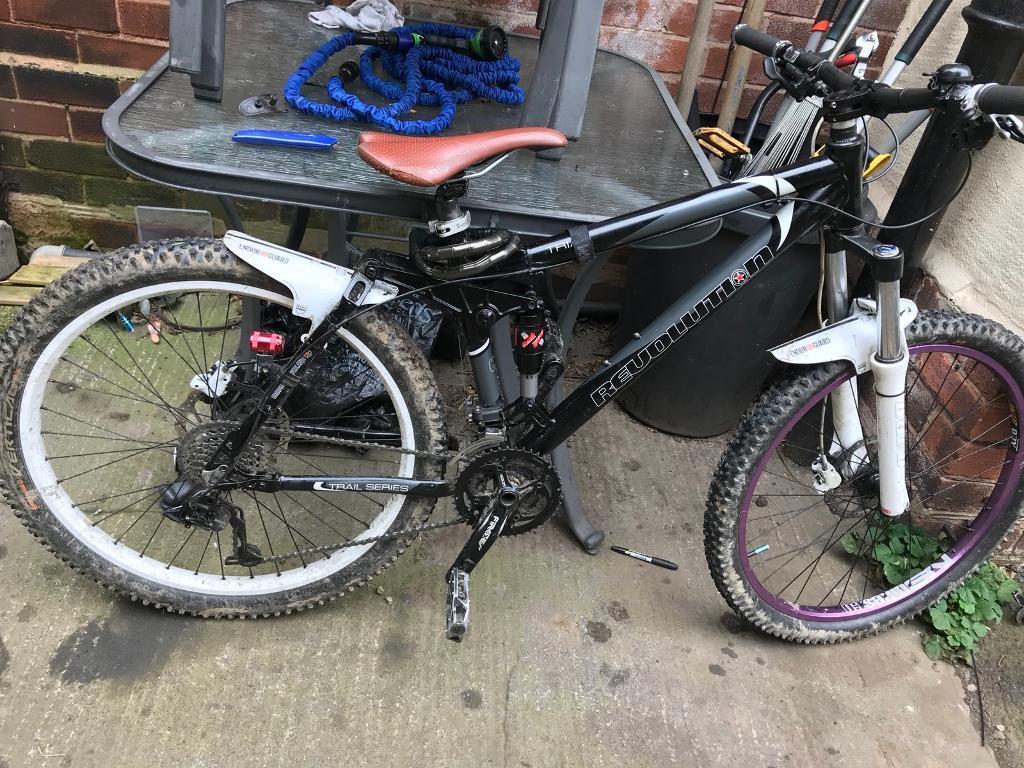 Revolution Triad double suspension downhill bike