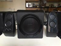 RRP £80 LOUD BLUETOOTH SPEAKERS SANDSTROM BOOM BOX SUB WOOFER