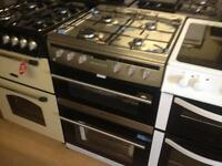 Silver 60cm gas cooker (double oven)