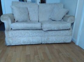 2 great beige fabric sofa (two seater)