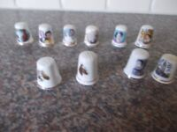 Ten thimbles five are Royalty very good condition