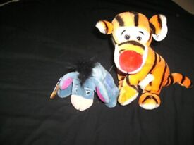 DISNEY Tigger & Eeyor Plush Soft Toys, Like New