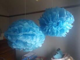 Decorative tissue paper pom poms