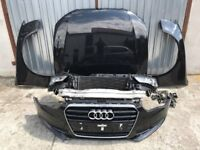 Front end Audi A5 Facelift 8K0 12-16 Left hand drive headlights, bonnet, radiator pack, bumper LHD