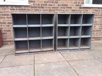 Industrial metal storage pigeon hole style units
