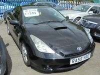 TOYOTA CELICA 1794cc VVTI 2 DOOR COUPE 2005-55, BLACK, 2 FORMER KEEPERS,