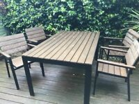 Garden table and 4 chairs - Ikea