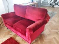 Red Cranberry LAURA ASHLEY Sofa