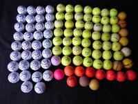 100 practice / general play golf balls