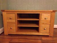 Solid Wood TV Unit (Next) Oak