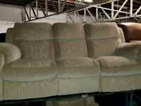 Ex-display 3 Seater Sofa (reclining) + 1 Reclining chair