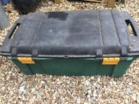 Large plastic storage crate