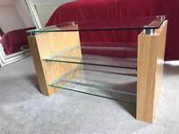 TV stand with glass shelves REDUCED 4 QUICK SALE