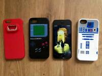 iPhone 5 w/ different cases and charger