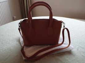 NEW UNUSED TAN SUEDE LOOK HANDBAG