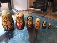 Vintage Nesting Dolls - Wooden Dolls Russian Presidents
