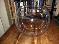 Glass goldfish bowl 30x25cm (DH)