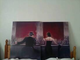 2 pics canvas wall art